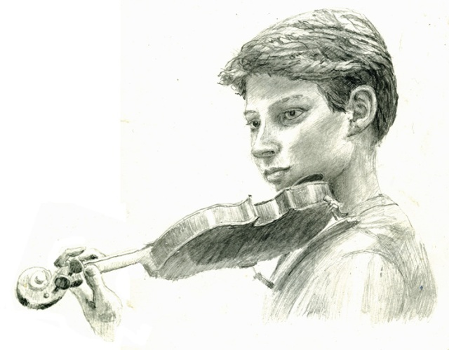drawing F violin a