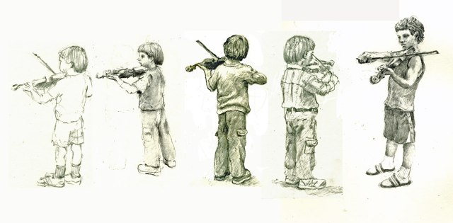 drawing violin-f