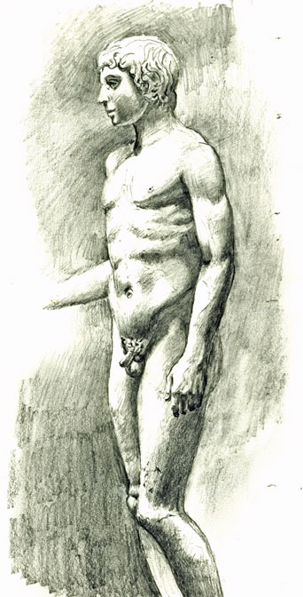 drawing apollo-stature-of-an-athele