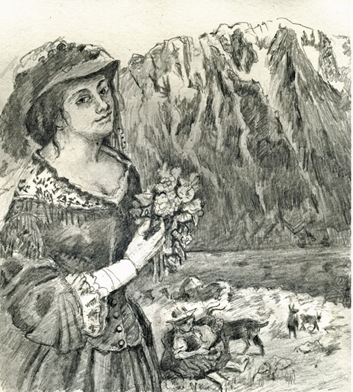 drawing-courbet-bouquet