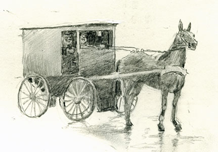 drawing-horse-amish