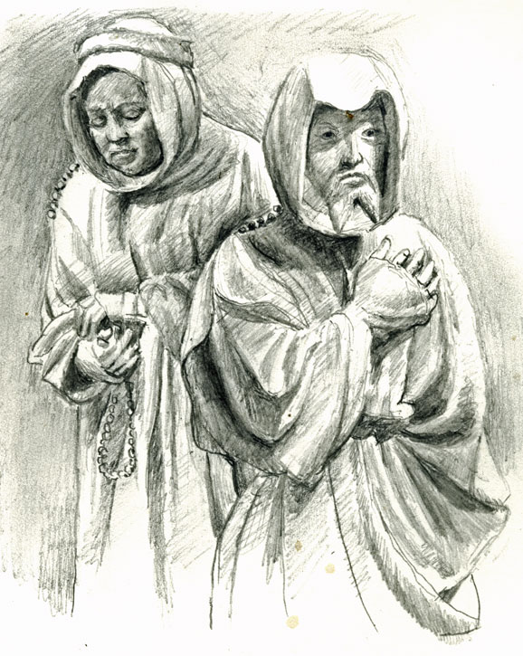 drawing-museum-monks