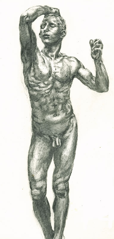 drawing-Rodin-age-of-bronze