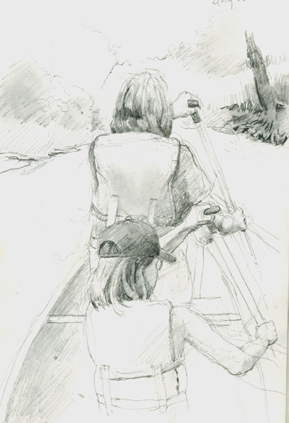 drawing-canoe