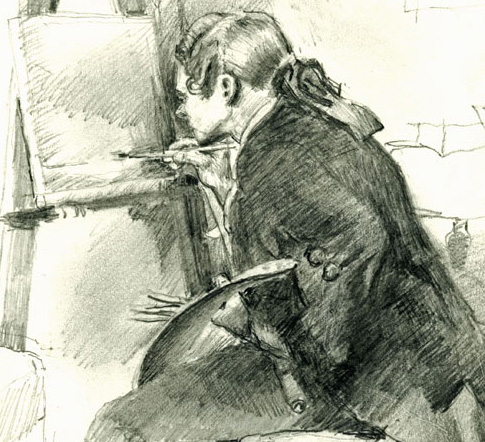 hair 64 drawing-meissonier